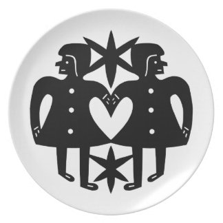Sisters Heart Plates