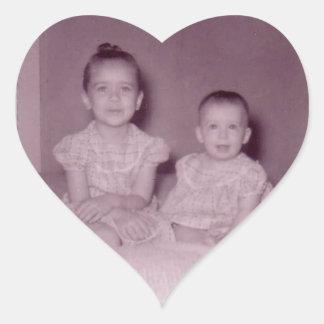 sisters heart Sticker Heart Sticker