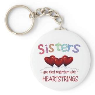 Sisters Heartstrings Keychain keychain