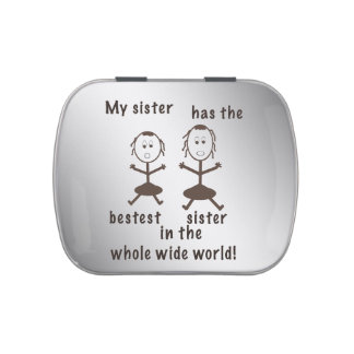 Sisters, Humorous, Customizable Jelly Belly Candy Tins