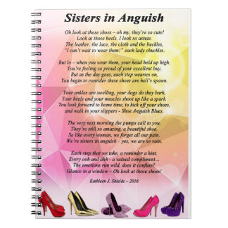 Sisters in Anguish Poem Notebook