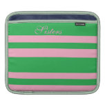 Sisters in Pink and Green Rickshaw Sleeve Sleeves For iPads