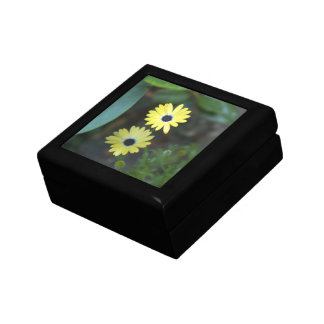Sisters In The Garden tile-top wood box Jewelry Box