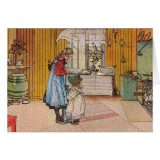 Sisters - Koket av Carl Larsson Card
