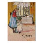 Sisters - Koket av Carl Larsson Cards