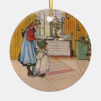 Sisters - Koket av Carl Larsson Ceramic Ornament