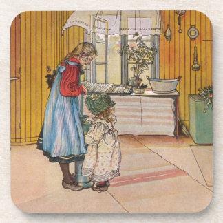 Sisters - Koket av Carl Larsson Drink Coaster