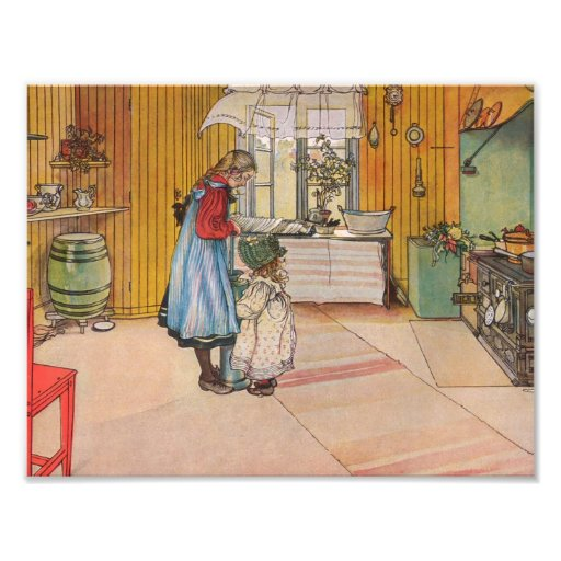 Sisters - Koket av Carl Larsson Photo Art