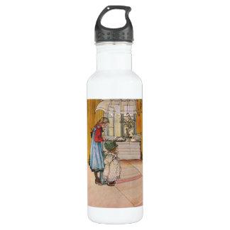 Sisters - Koket av Carl Larsson Water Bottle
