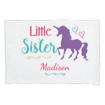 Sisters Little Sister Unicorn Pretty Colorful Kids Pillow Case
