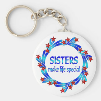 Sisters Make Life Special Keychain
