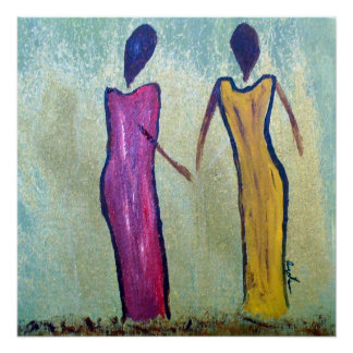Sisters - Matte Canvas African Print