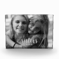 Sisters Personalize It Photo Block