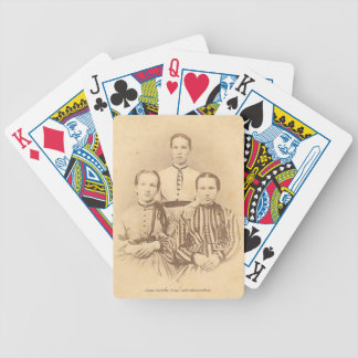 Sisters Playing Cards