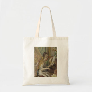 Sisters Playing the Piano Budget Tote Bag