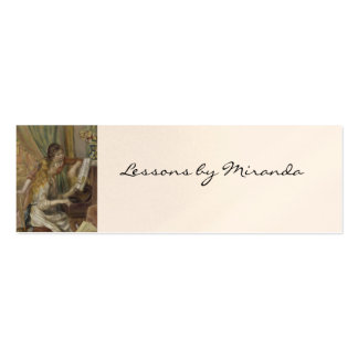 Sisters Playing the Piano Double-Sided Mini Business Cards (Pack Of 20)