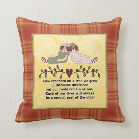 Sisters Poem Pillow