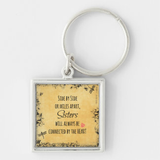 Sisters Quote Keychain