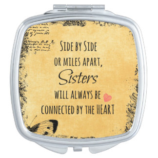 Sisters Quote Travel Mirrors