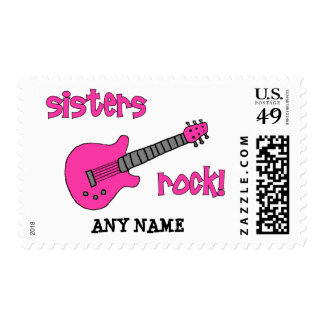 Sisters Rock!  (with Guitar) Stamps