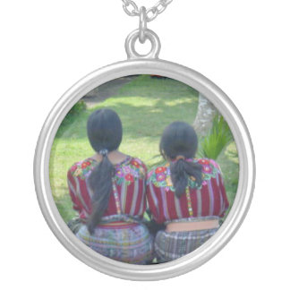 Sisters Round Pendant Necklace