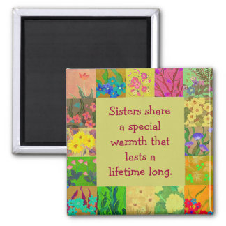 sisters share 2 inch square magnet