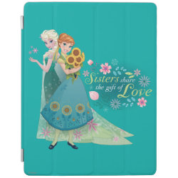 iPad 2/3/4 Cover with The Gift of Love: Frozen Fever Sisters design