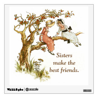 Sisters Sharing Secrets Wall Decal