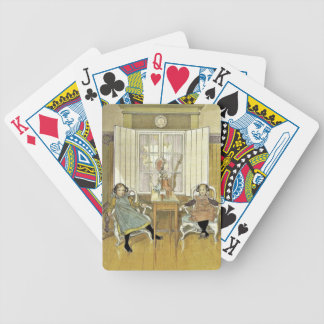 Sisters Sitting in Chairs Bicycle Playing Cards