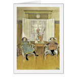 Sisters Sitting in Chairs Card
