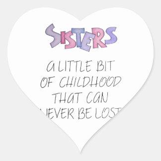 Sisters Heart Sticker
