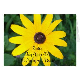 Sister's Sunny Birthday Black Eyed Susan Card