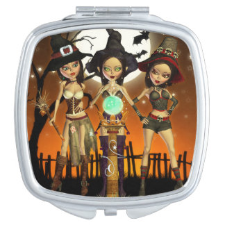 Sisters Three Enchanted Witch Compact Mirror