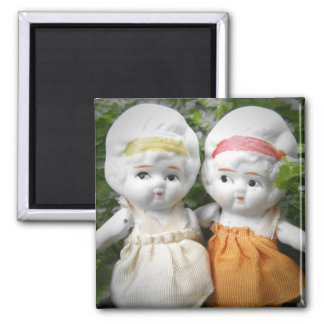Sisters Through The Ages 2 Inch Square Magnet