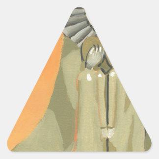 sisters triangle sticker