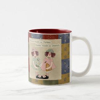Sisters Two-Tone Coffee Mug