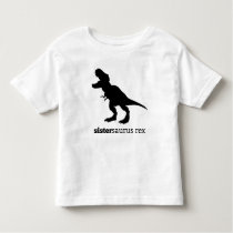 Sistersaurus rex matching family dinosaur tshirt