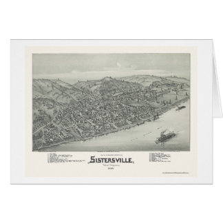 Sistersville, WV Panoramic Map - 1896 Card