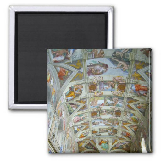 sistine chapel 2 inch square magnet