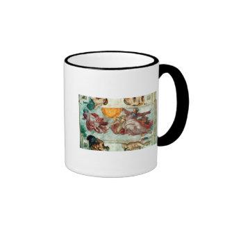 Sistine Chapel Ceiling 3 Ringer Coffee Mug