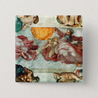 Sistine Chapel Ceiling 3 Pinback Button