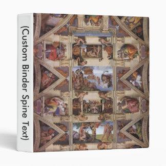Sistine Chapel Ceiling 3 Ring Binder