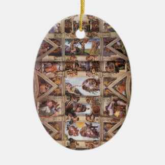 Sistine Chapel Ceiling Ceramic Ornament