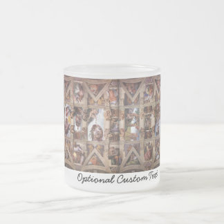 Sistine Chapel Ceiling Frosted Glass Coffee Mug