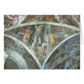 Sistine Chapel Ceiling: Haman Card