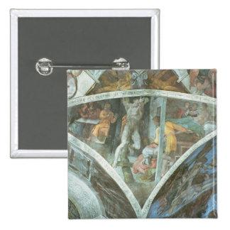 Sistine Chapel Ceiling: Haman Pinback Button