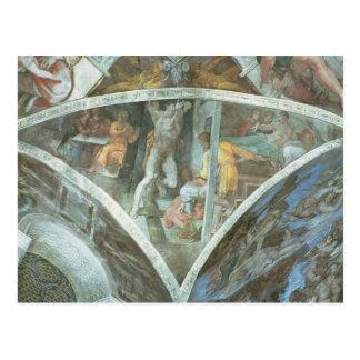 Sistine Chapel Ceiling: Haman Postcard