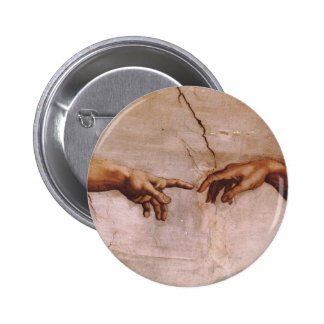 Sistine Chapel Ceiling Pinback Button