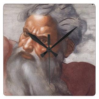 Sistine Chapel ceiling Square Wall Clock