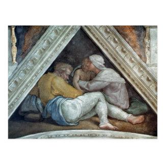 Sistine Chapel Ceiling: The Ancestors of Christ Postcard